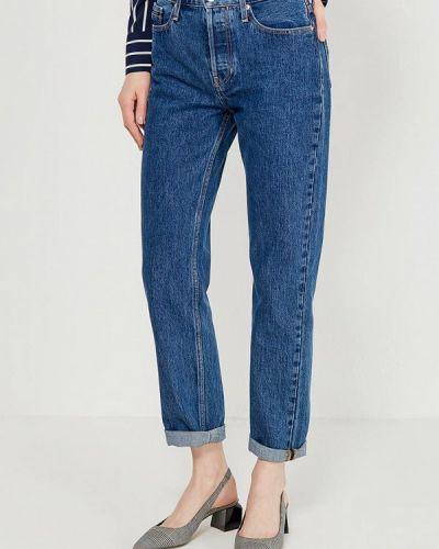 Синие джинсы с высокой посадкой Calvin Klein Jeans