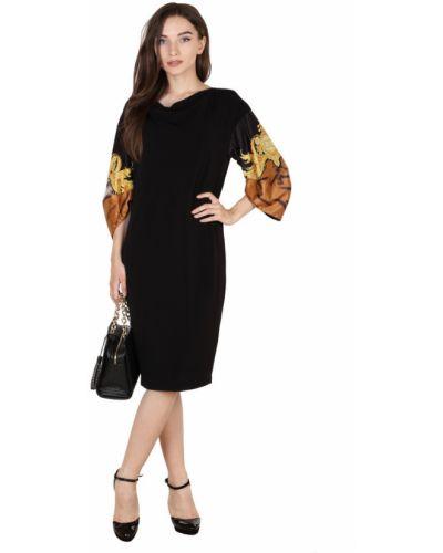 Платье с узором - черное Roberto Cavalli