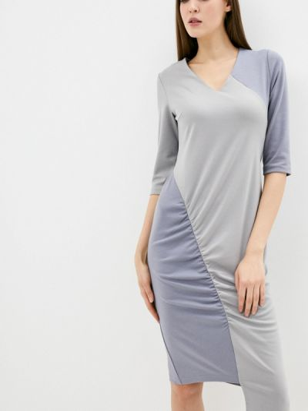 Серое платье-футляр Adzhedo