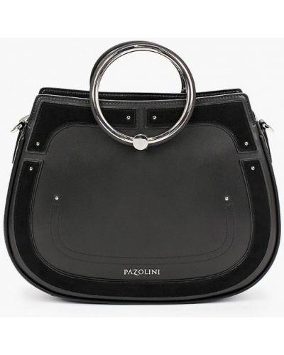 Черная сумка из натуральной кожи Pazolini