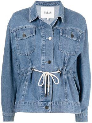 Синяя джинсовая джинсовая куртка Ba&sh