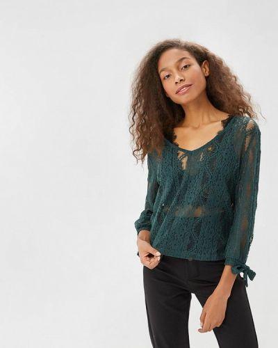 Зеленая блузка кружевная Sweewe