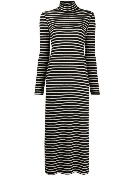 Платье в полоску с рукавами Loewe