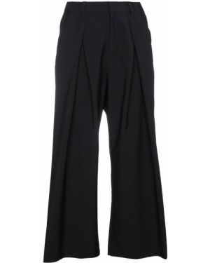 Черные укороченные брюки с поясом свободного кроя Charm`s