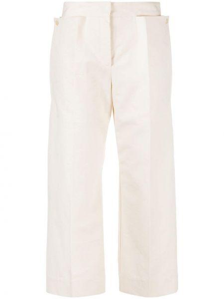 Bawełna spodni przycięte spodnie z kieszeniami z wiskozy Jacquemus