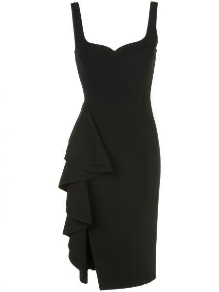 Платье миди с оборками без рукавов с вырезом на молнии Jason Wu Collection