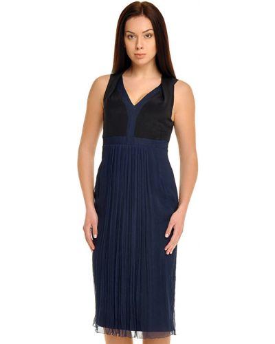 Шелковое платье - синее Bally
