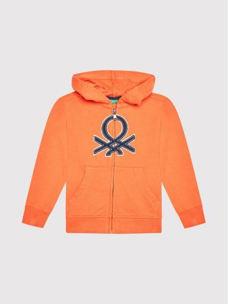 Bluza - pomarańczowa United Colors Of Benetton