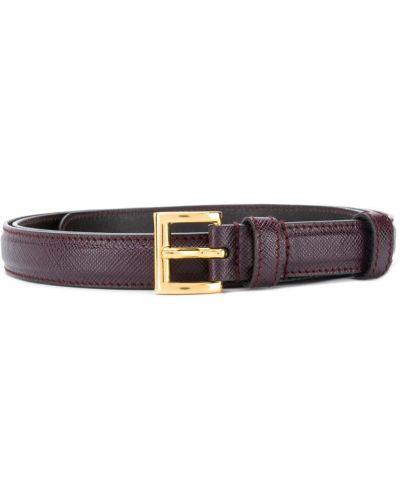 Тонкий ремень красный фиолетовый Prada