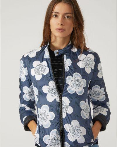 Куртка с перьями - синяя Emporio Armani