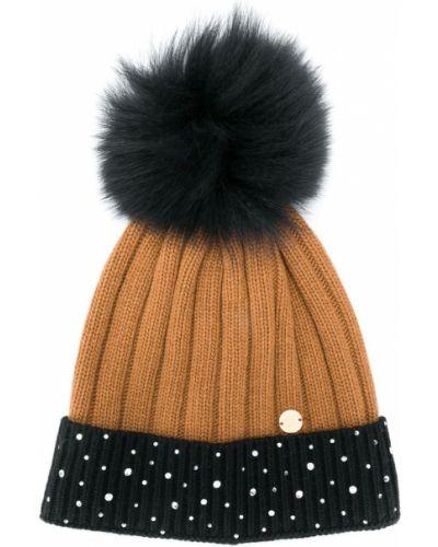 Кашемировая черная шапка бини Miss Blumarine