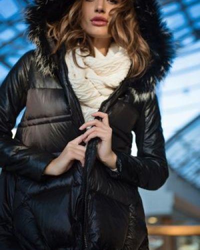 Утепленная куртка с мехом пуховая Love Republic