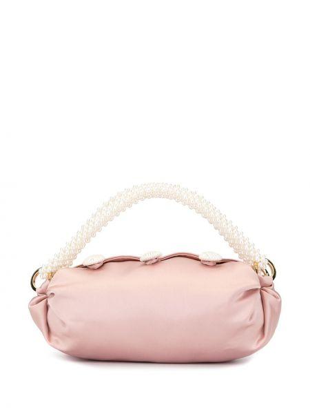 Розовая сумка-тоут 0711