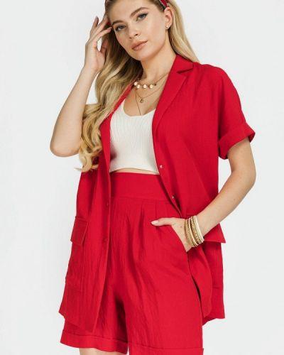 Красный костюм осенний Clever Woman Studio