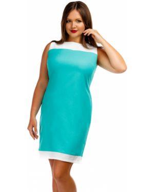Платье с разрезом - белое Liza Fashion