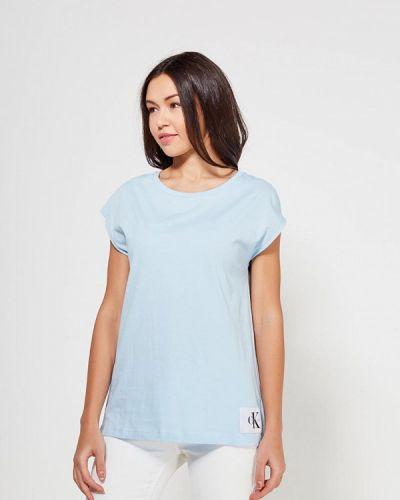 Голубая футболка Calvin Klein Jeans