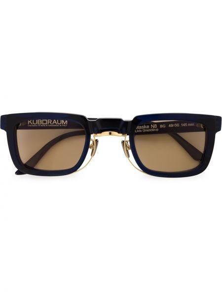 Солнцезащитные очки металлические - желтые Kuboraum