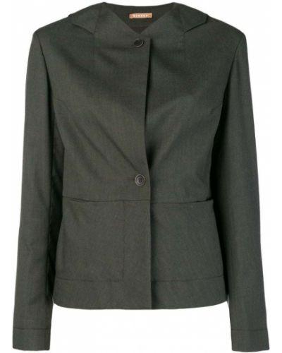 Длинная куртка на пуговицах зеленая Nehera