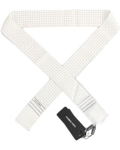 Biały szalik z jedwabiu Dolce And Gabbana