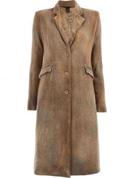 Бежевое кашемировое пальто классическое с капюшоном Avant Toi