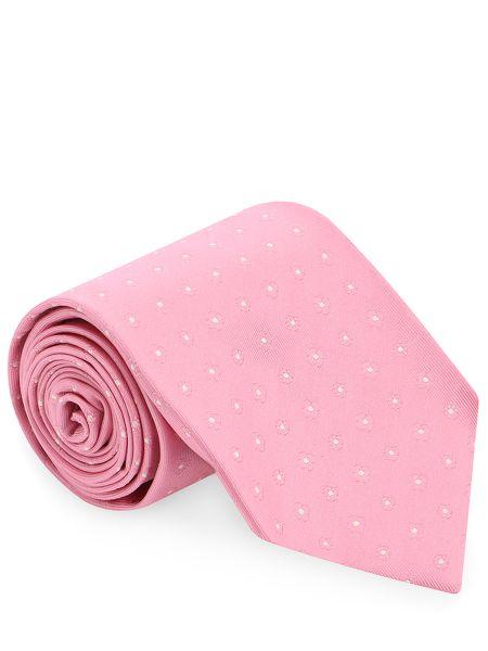 Шелковый галстук - розовый Barba