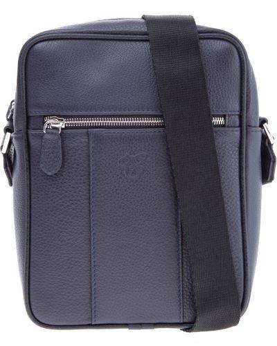 Кожаная сумка на молнии с логотипом Canali