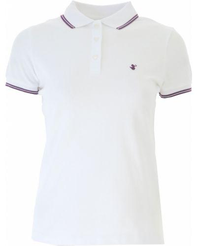 T-shirt bawełniana - biała Save The Duck