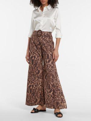 Brązowe spodnie z paskiem bawełniane Alexandra Miro