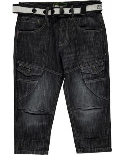 Niebieskie szorty jeansowe bawełniane z paskiem No Fear