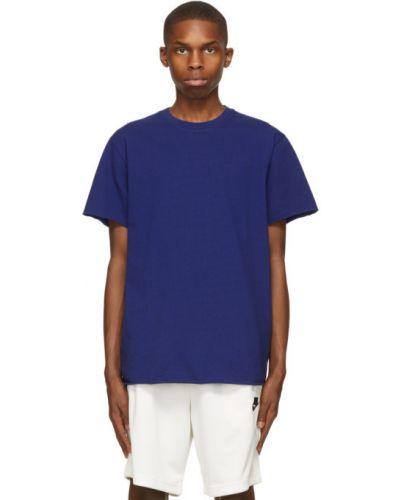 Niebieski bawełna koszula krótkie rękawy John Elliott