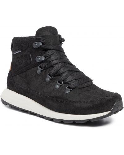Klasyczne czarne sneakersy skorzane Merrell