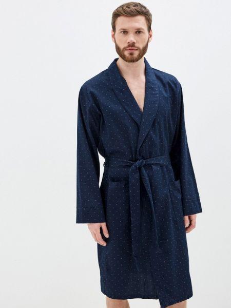 Синий домашний халат Marks & Spencer