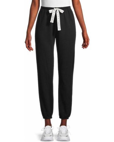 Хлопковые черные брюки с манжетами Kendall + Kylie