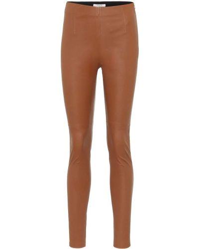 Мягкие кожаные коричневые леггинсы Dorothee Schumacher