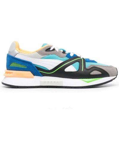 Синие кожаные кроссовки на шнурках Puma