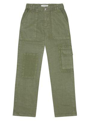 Зеленые брюки карго Bonpoint