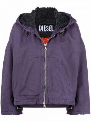 Куртка с капюшоном - фиолетовая Diesel