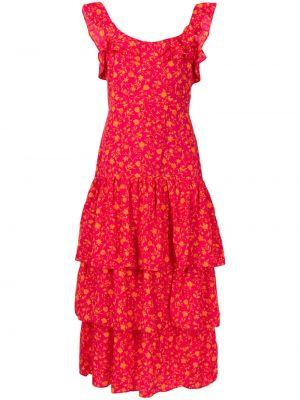 Платье миди без рукавов с оборками с вырезом Likely