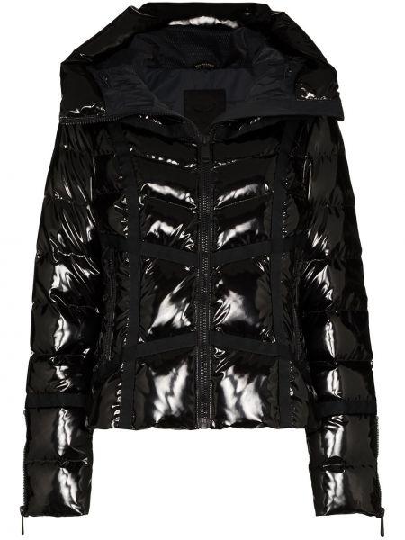 Черная куртка горнолыжная с капюшоном на молнии Goldbergh