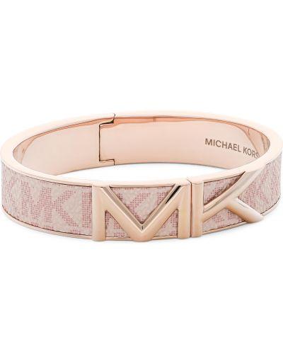 Bransoletka srebrna - różowa Michael Kors