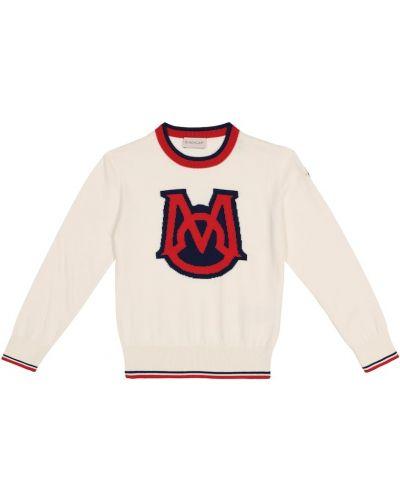 Biały sweter bawełniany Moncler Enfant