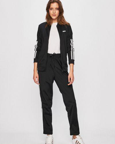 Bluza z kapturem z kapturem czarny Adidas