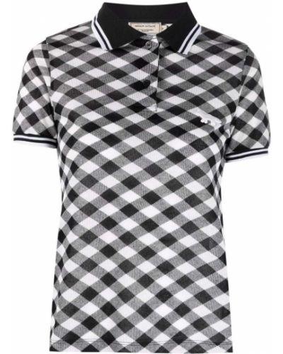 Рубашка с коротким рукавом - черная Maison Kitsuné