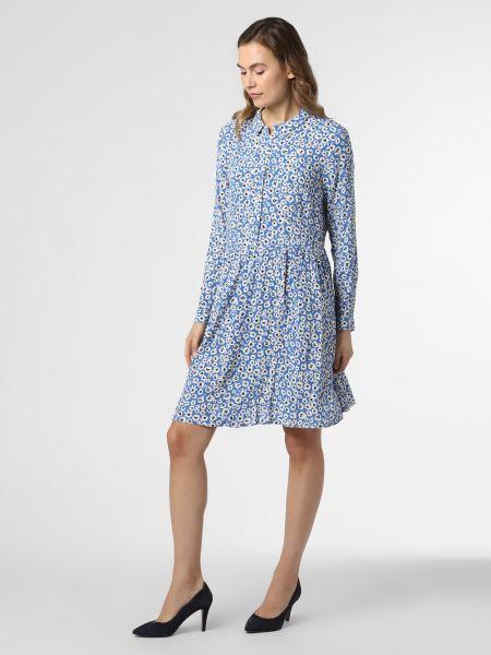 Sukienka mini w kwiaty - niebieska Minimum