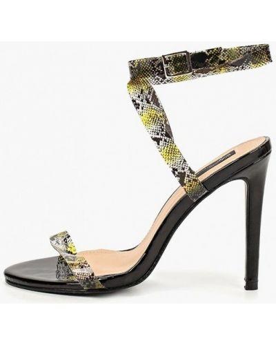 Босоножки на каблуке черные Sergio Todzi