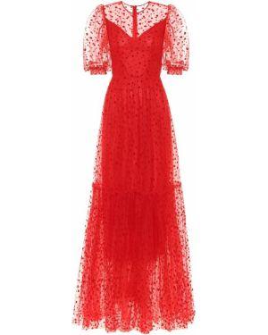 Платье мини из фатина платье-поло Costarellos