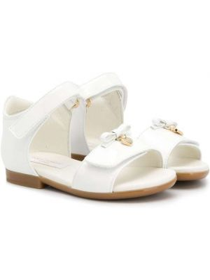 Белые сандалии с бантом Dolce & Gabbana Kids