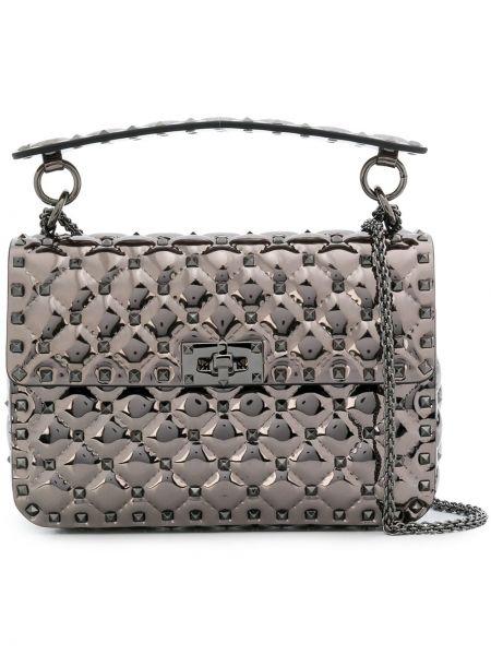 Кожаная сумка через плечо на цепочке Valentino Garavani