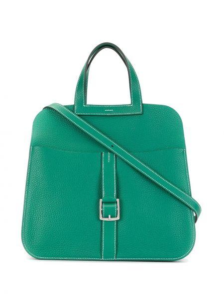 Сумка с ручками зеленый Hermès
