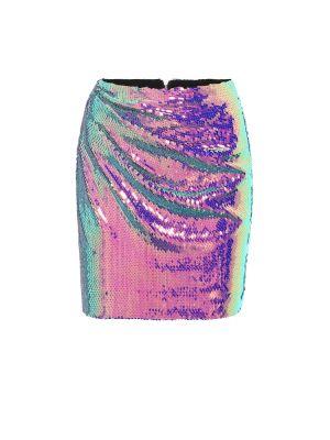 Юбка мини с пайетками - желтая Alex Perry